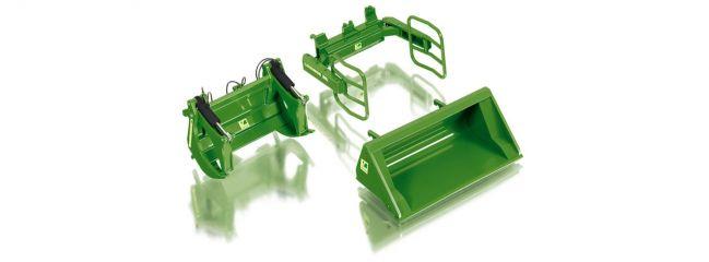 WIKING 077381 Frontlader Werkzeuge Set A John Deere, Modell-Zubehör  1:32