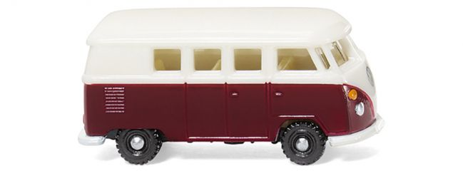 WIKING 093202  VW T1 Bus - weinrot/weiß | 1:160
