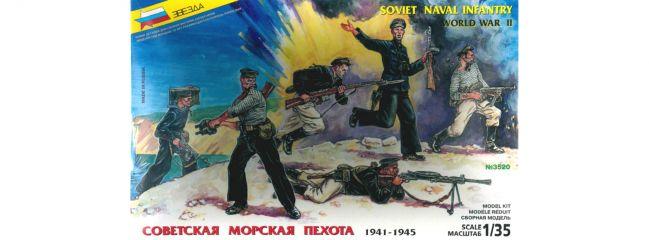 ZVEZDA 3520 Sowjetische Marinesoldaten WWII | Militär Bausatz 1:35