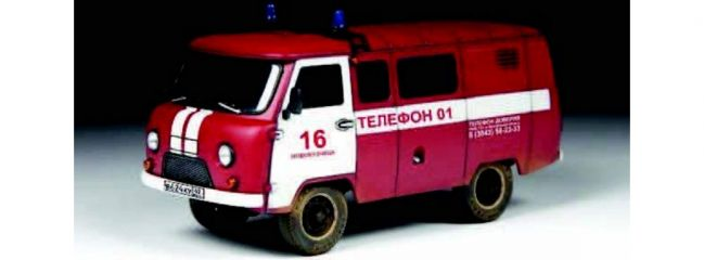 ZVEZDA 43001 UAZ 3909 Feuerwehr Van | Auto Bausatz 1:43