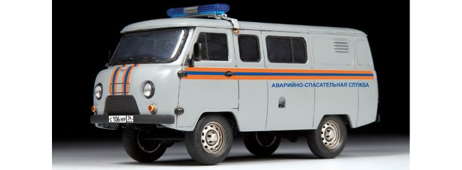 ZVEZDA 43002 UAZ 3909 Rettungswagen | Auto Bausatz 1:43
