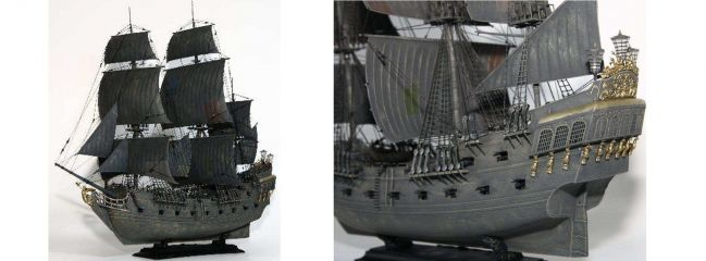 ZVEZDA 9037 Piratenschiff Black Pearl | Jack Sparrow | Bausatz 1:72