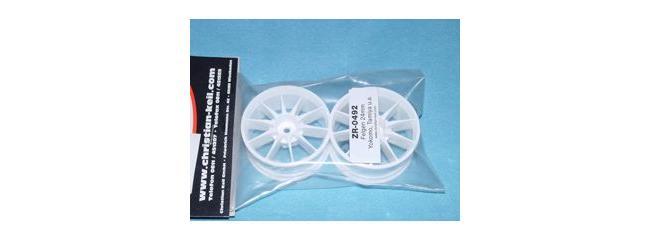 KEIL ZR0492 Felgen (2Stk) Weiß 24mm 10Speichen <b>Abverkauf</b> Kei