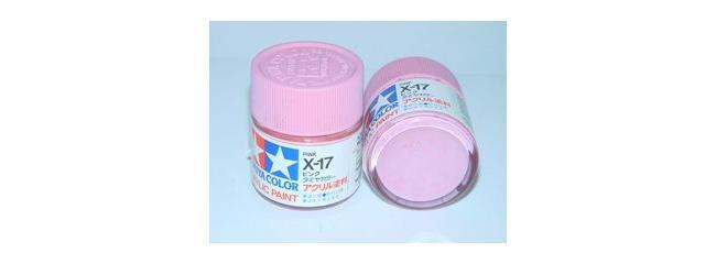 TAMIYA X-17 rosa glänzend Streichfarbe #81017