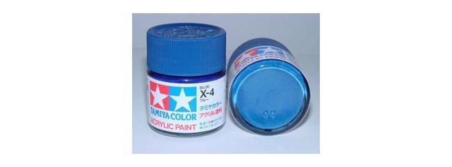 TAMIYA X-4 blau glänzend Streichfarbe #81004