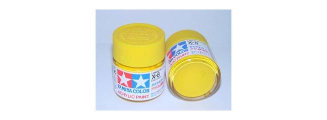 TAMIYA X-8 zitronen gelb Streichfarbe #81008