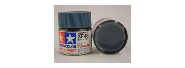 TAMIYA XF-18 mittel blau Streichfarbe #81318