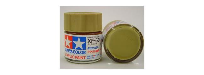 TAMIYA XF-60 dunkel gelb | Streichfarbe | #81260 | 23 ml