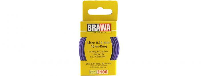 BRAWA 3100 Litze | 0,14 mm² | 10 m Ring | Lila