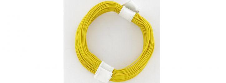 BRAWA 32401 Hochflexible Schaltlitze | 0,05 mm² | 10 m Ring | Gelb