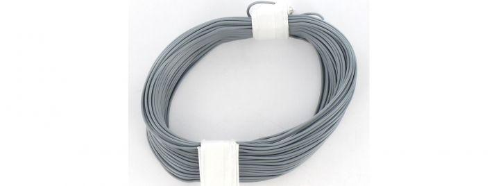 BRAWA 32407 Hochflexible Schaltlitze | 0,05 mm² | 10 m Ring | Grau