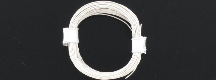 BRAWA 32409 Hochflexible Schaltlitze   0,05 mm²   10 m Ring   Weiß