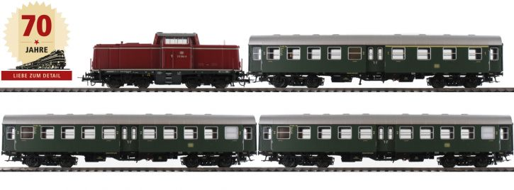 ausverkauft | BRAWA 45912 Zugpackung Diesellok BR 212 Personenzug DBK | DC analog | Spur H0