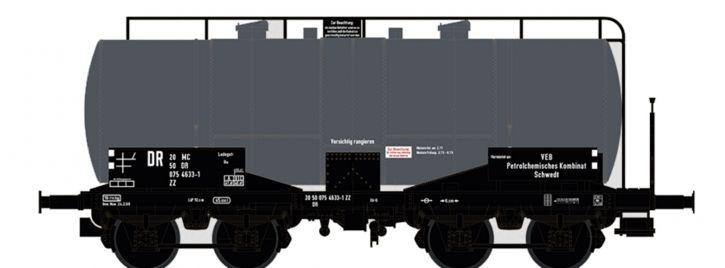 BRAWA 47417 Kesselwagen ZZ [P] | DC | DR | VEB Petrolchemisches Kombinat Schedt | Spur H0