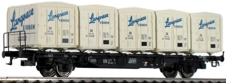 BRAWA 49118 Behälterwagen Btmms58 + Ekrt212 Langnese DB | DC | Spur H0