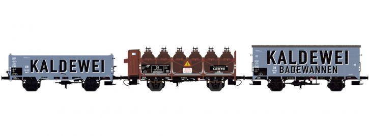 BRAWA B2005 3-tlg. Güterwagen-Set Kaldewei DB | DC | Spur H0