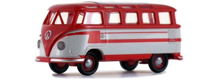 BREKINA 31843 VW T1b Samba rot hellgrau   Automodell 1:87