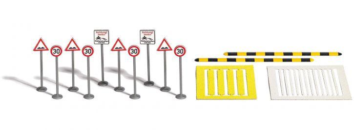 BUSCH 1110 Verkehrsberuhigungs-Set Bausatz 1:87