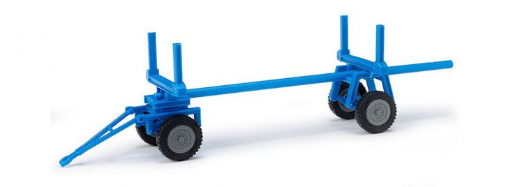 BUSCH 210009402 Langholzanhänger für E-Karre blau Landwirtschaftsmodell 1:87