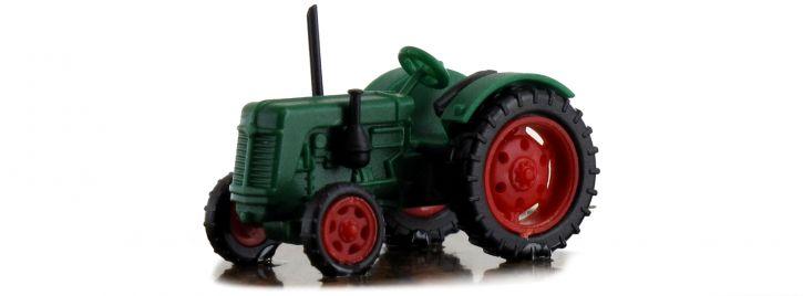 BUSCH 211006700 Traktor Famulus grün rote Felgen Landwirtschaftsmodell 1:160