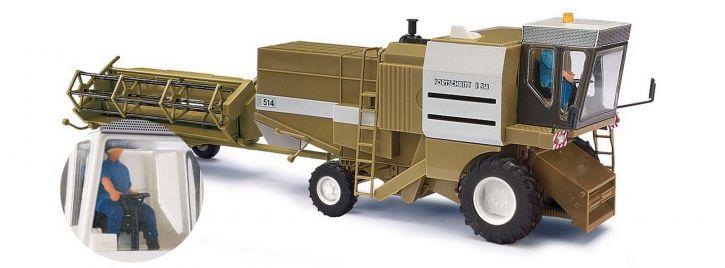 BUSCH 40178 Mähdrescher Fortschritt E514 mit Figur LPG Landwirtschaftsmodell 1:87