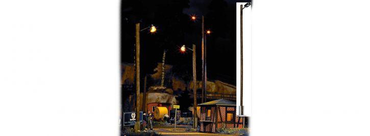 BUSCH 4110 Bahnhofsleuchte mit Holzmast 142mm Fertigmodell 1:87