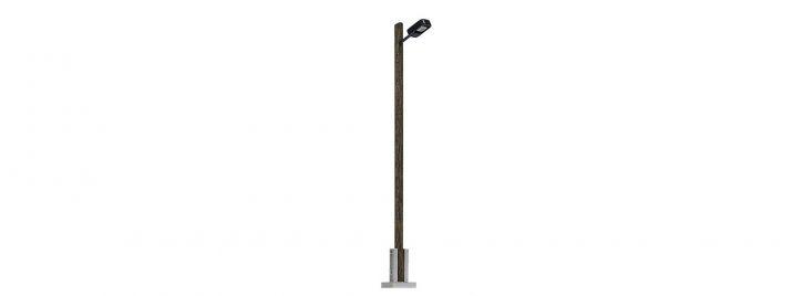 BUSCH 4159 Straßenlampe mit Holzmast | 90 mm | Spur H0
