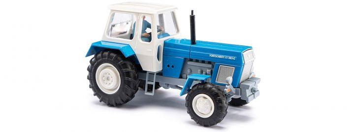 BUSCH 42855 Traktor ZT 303 mit Bäuerin blau | Traktormodell 1:87