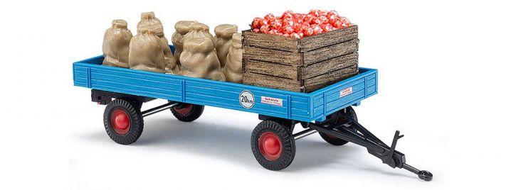 BUSCH 44995 Anhänger mit Apfelladung  Landwirtschaftsmodell 1:87