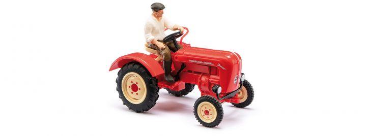 BUSCH 50012 Traktor Porsche Junior K mit Figur Landwirtschaftsmodell 1:87