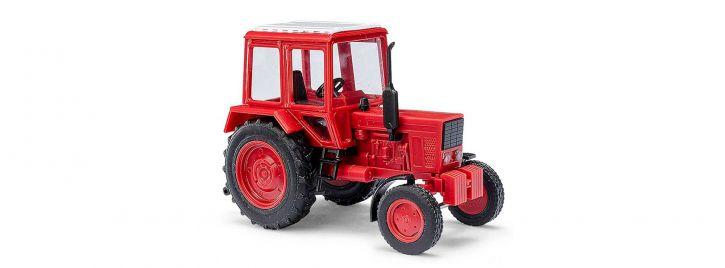 BUSCH 51304 Belarus MTS80 mit eingebauen Scheinwerfern ziegelrot Landwirtschaftsmodell 1:87