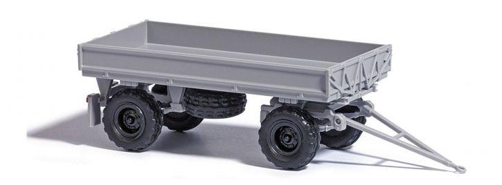 BUSCH 53002 IFA HW60 mit Kippgestänge und Niederdruckbereifung grau Anhängermodell 1:87