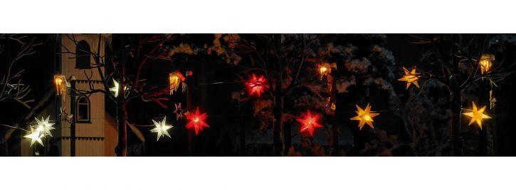 BUSCH 5415 leuchtender Weihnachtsstern gelb | 3 Stück im Set | Spur H0