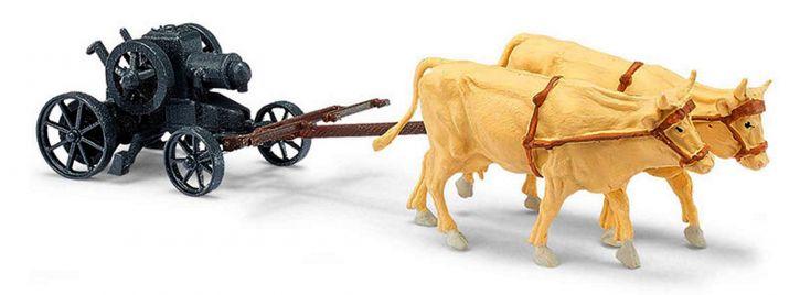 BUSCH 59910 Gespann Bulldog Lanz Landwirtschaftsmodell 1:87