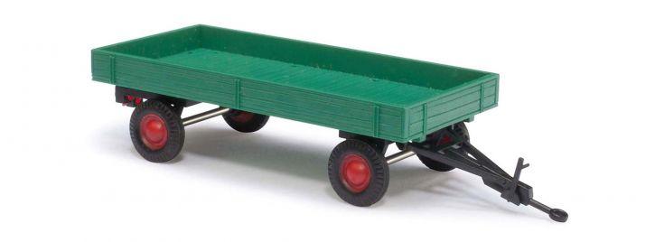 BUSCH 59946 Anhänger Gummiwagen grün Anhängermodell 1:87