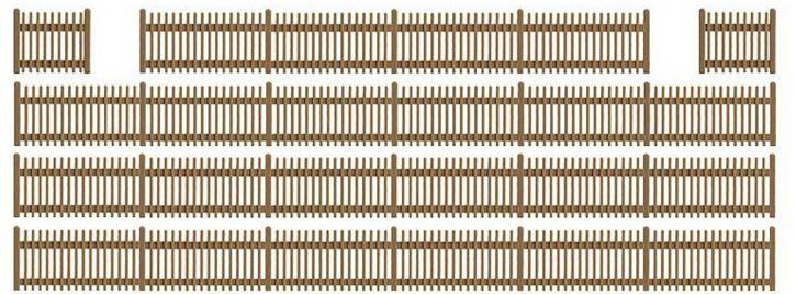 BUSCH 6007 Lattenzaun 120cm Fertigmodell  Spur  H0