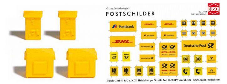 BUSCH 7761 Briefkästen | Bausatz Spur H0