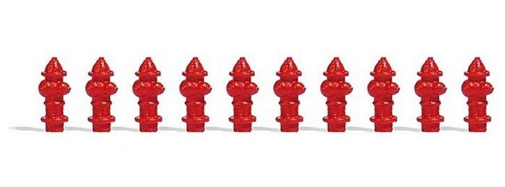 BUSCH 7766 MiniSet US Hydranten 10 Stück Fertigmodell 1:87