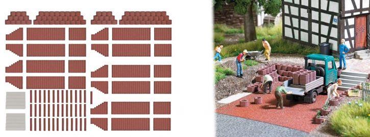 BUSCH 7871 Pflanzsteine und Palisaden rotbraun Bausatz 1:87