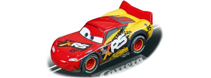 Carrera 64153 Go!!! Disney Pixar Cars - Lightning McQueen | Mud Racers | Slot Car 1:43