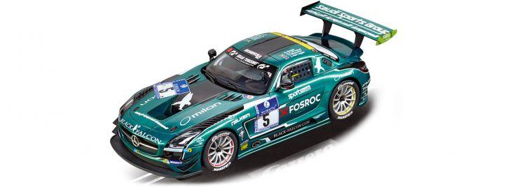 Carrera 23876 Digital 124 Mercedes-Benz SLS AMG GT3 | Black Falcon, No.5 | Slot Car 1:24