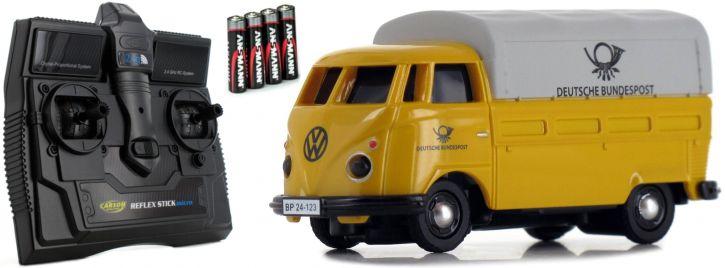 CARSON 500504123 VW T1 Bus Dt. Bundespost 2.4GHz | RC Auto 1:87 Spur H0