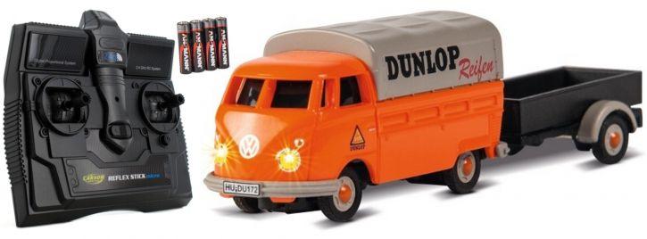 CARSON 500504135 VW T1 Bus + Dunlop Anhänger 2.4GHz | RC Auto 1:87 Spur H0