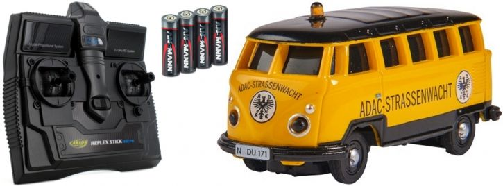 CARSON 500504136 VW T1 Bus ADAC 2.4GHz | RC Auto 1:87 Spur H0
