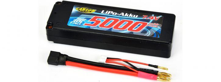 ausverkauft | CARSON 500608136 LiPo Akku 5000mAh | 7.4V | 2S | 30C | Hardcase kaufen