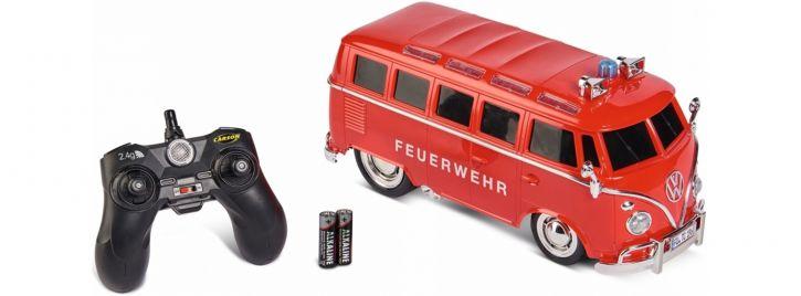 CARSON 500907325 VW T1 Samba Bus Feuerwehr | 2.4GHz | RC Auto Komplett-RTR 1:14