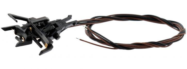 ESU 41001 Stromführende Kupplung 2-polig | NEM-Kupplungsschacht | 2 Stück | Spur H0