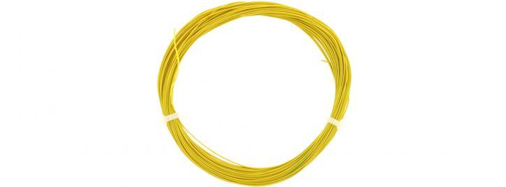 ESU 51947 Hochflexibles Kabel | gelb | Ø 0,5 mm | AWG36 | 10 Meter