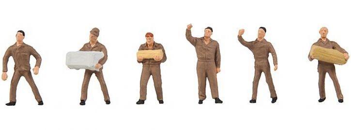 ausverkauft | FALLER 150941 Logistikpersonal UPS | 6 Stück | Figuren Spur H0