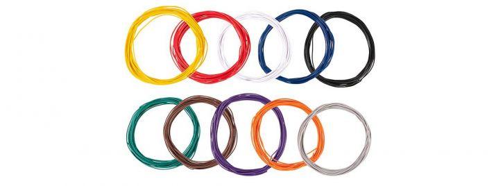 FALLER 163780 Litzensortiment 0,04 mm²  je 10m und 10 Farben Anlagenbau alle Spurweiten